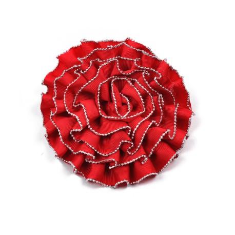 Materiałowa broszka Kwiatek