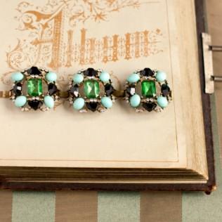 Bransoletka: zielone kamienie