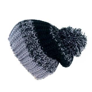 Dwukolorowa czapka plus pompon