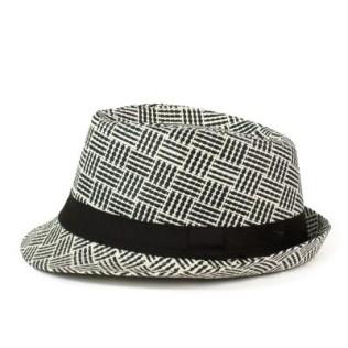 Letni kapelusz trilby - prążki