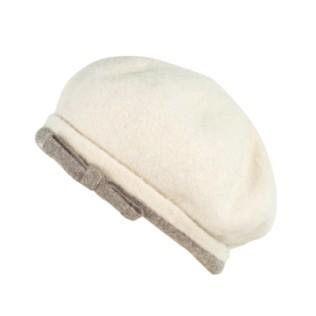 Filcowany beret z kokardką