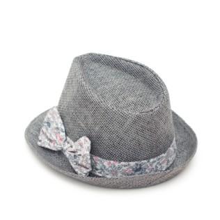 Młodzieżowy kapelusz trilby z kokardą