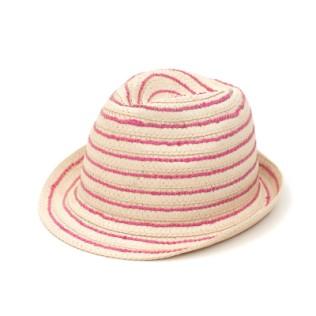 Miękki kapelusz trilby z kolorową nitką