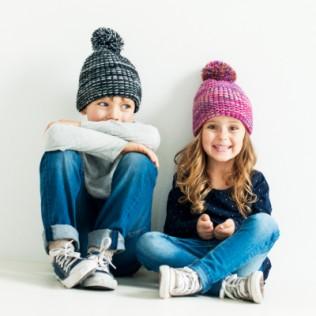 Dziecięca czapka w melanżach