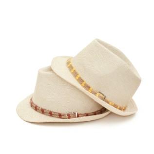 Letni kapelusz trilby podwójny sznurek