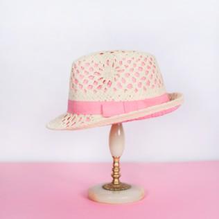 Kapelusz Pink elegance [HANDMADE]