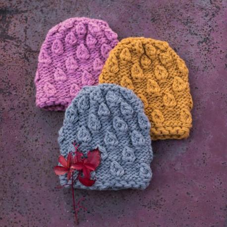 Dziecięca czapka Supełki [HANDMADE]