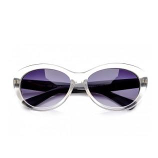 Okulary przeciwsłoneczne przeźroczyste kocie oczy