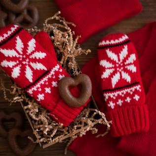 Ciepłe rękawiczki z gwiazdką