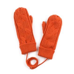 Damskie rękawiczki jednopalczaste z warkoczem