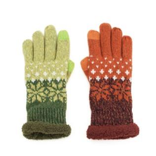 Rękawiczki z futerkiem i gwiazdkami