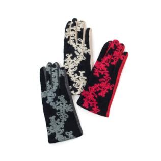 Rękawiczki Roślinny haft
