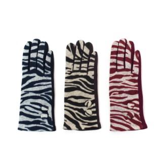 Rękawiczki wełniane Zebra