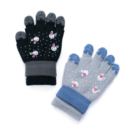 Rękawiczki dziecięce White bunny