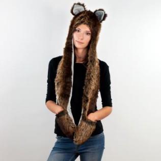Kapturo-szalik Niedźwiedziątko