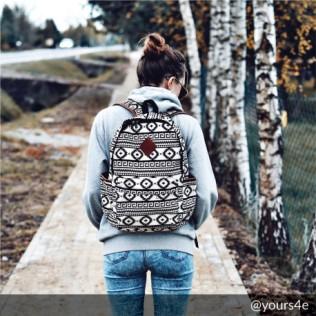 Plecak Floral & aztec patterns