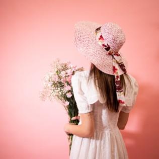 Kapelusz Flowery bow